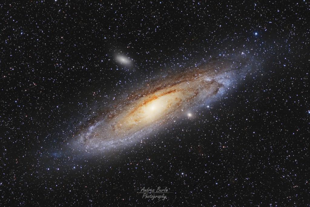 M31  Galassia di Andromeda, ripresa al fuoco diretto del rifrattore Vixen