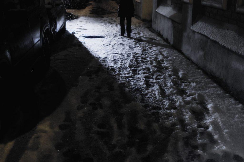 frequente immagine delle notti moscovite d'inverno