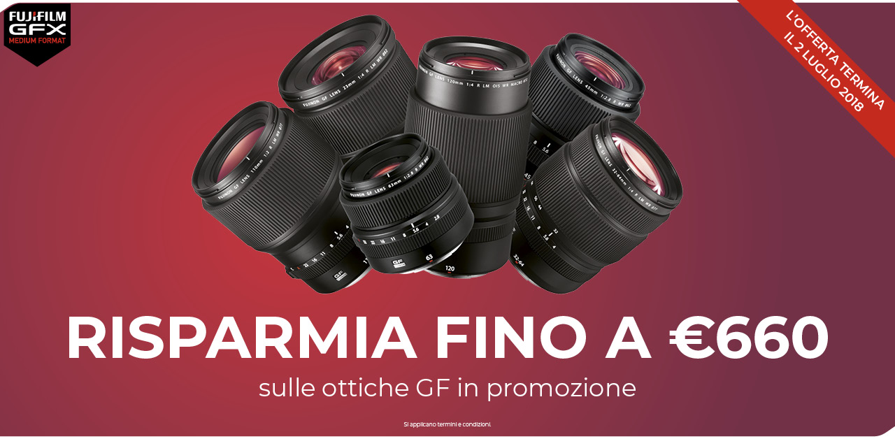 GFX 50S: Promozione estate Fujifilm